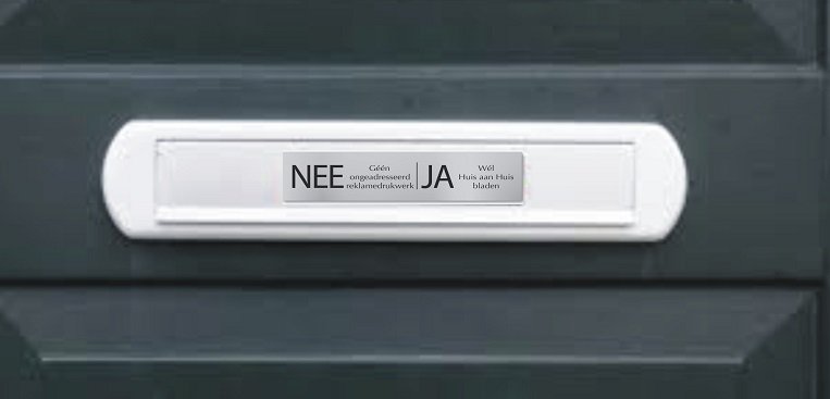 brievenbus klep met ja/nee sticker