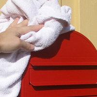 bobi brievenbus met doek afdrogen