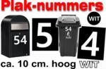 Plaknummers wit 10cm