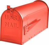 Amerikaanse brievenbus staal rood_