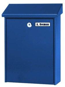 kleine brievenbus blauw