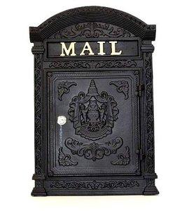 brievenbus antiek zwart