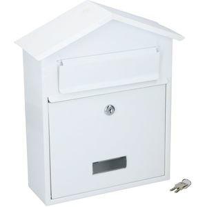 brievenbus puntdak wit
