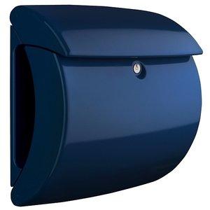Hoogglans brievenbus marine blauw