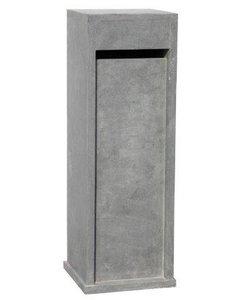 hardstenen brievenbus grijs pilaar