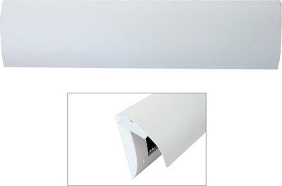 Brievenbusklep wit gecoat inclusief tochtborstel