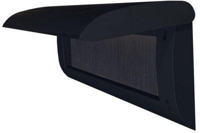 Brievenbusklep met tochtwering kunststof zwart