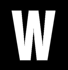 Plakletter wit 4cm: W