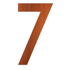 huisnummer 7 corten staal