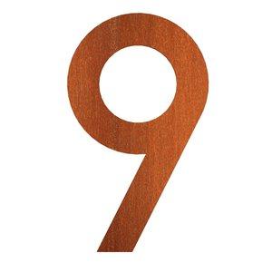 huisnummer 9 cortenstaal