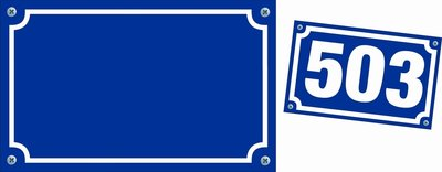Huisnummerbordje sticker 10 x16 cm