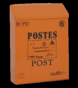 brievenbus post kaart oranje