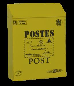 brievenbus post kaart geel