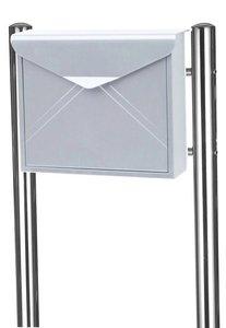 envelop brievenbus inox met statief
