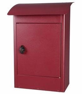 Grote brievenbus Zandvoort bordeaux rood mat
