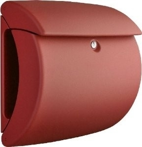 Burgwachter Brievenbus mat finish Pearl rood