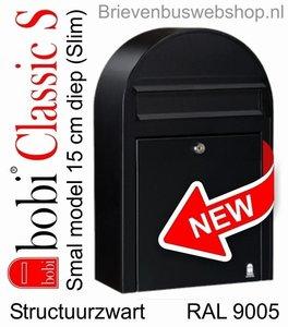 Nieuw! Bobi Classic S   structuurzwart RAL 9005