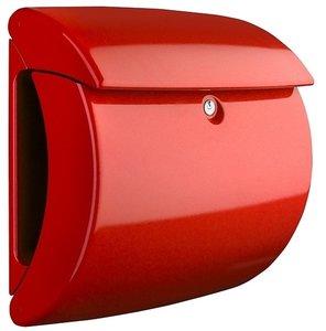 Hoogglans brievenbus rood