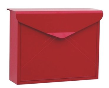 envelop brievenbus rood