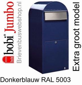 Brievenbus Bobi Jumbo donkerblauw RAL 5003