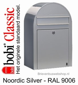 Brievenbus Bobi Classic Nordic zilvergrijs RAL 9006