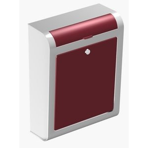 brievenbus design bordeaux rood