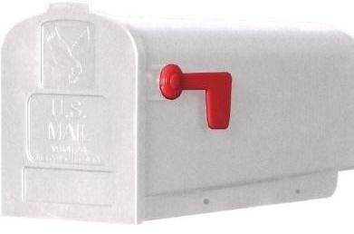 amerikaanse brievenbus wit kunststof