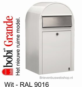 Brievenbus Bobi Grande wit RAL 9016