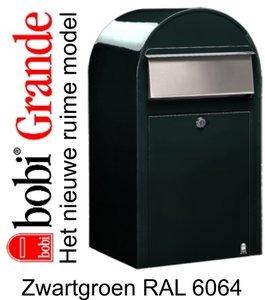 Brievenbus Bobi Grande zwartgroen RAL 6064