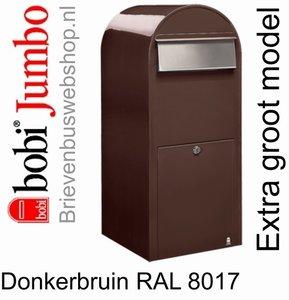Brievenbus Bobi Jumbo donkerbruin RAL 8017