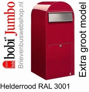 Brievenbus Bobi Jumbo helderrood RAL 3001