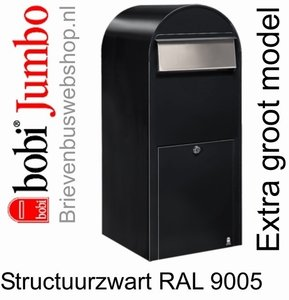 Brievenbus Bobi Jumbo struktuurzwart RAL 9005