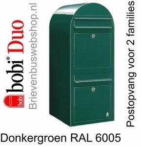 Brievenbus Bobi Duo donkergroen RAL 6005