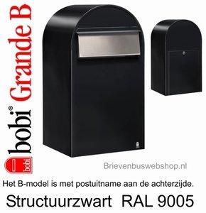 Bobi Grande B structuurzwart 9005