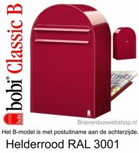 Brievenbus Bobi Classic B helderrood RAL 3001