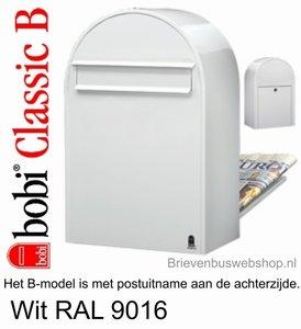 Brievenbus Bobi Classic B wit 9016