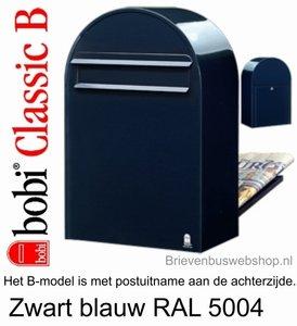 Brievenbus Bobi Classic B zwartblauw RAL 5004
