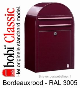 Brievenbus Bobi Classic bordeaxrood RAL 3005
