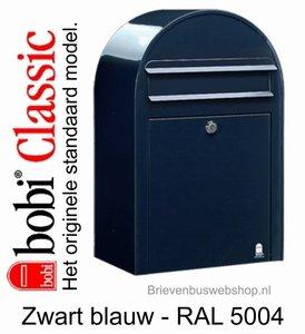 Brievenbus Bobi Classic zwartblauw RAL 5004