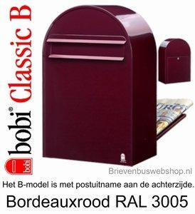 Brievenbus Bobi Classic B bordeauxrood RAL 3005