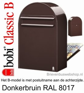 Brievenbus Bobi Classic B donkerbruin RAL 8017