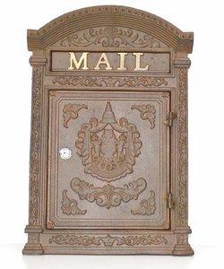 brievenbus antiek brasse