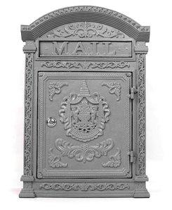 brievenbus antiek grijs