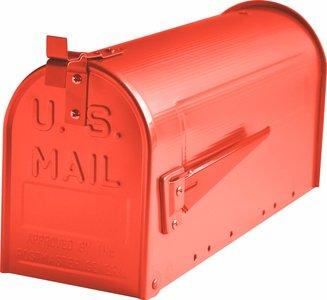 Amerikaanse brievenbus staal rood