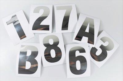 Huisnummer stickers Zilver RVS look 10CM