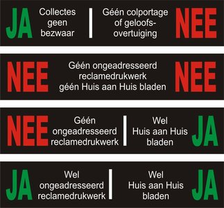 Ja Nee stickers