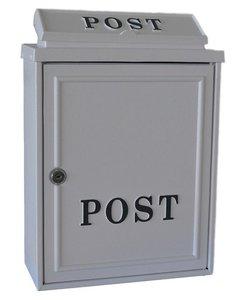 klassiek brievenbus wit post