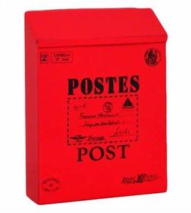 Brievenbus Post kaart rood (B-keus)