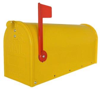 US mailbox geel