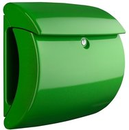 Hoogglansbrievenbus hel groen